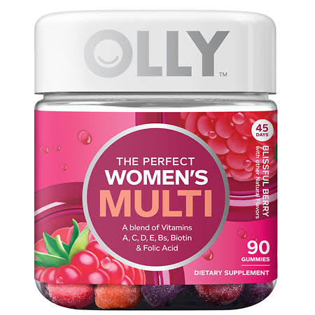 Olly The Perfect Women's Multi Supplement - Blissful Berry, 90 Gummies