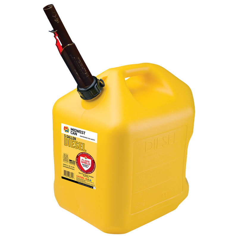 Midwest Can Flame Shield Plastic Safety Diesel Can - 5gal