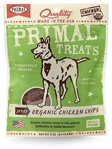 Primal Jerky Organic Chicken Chips Dog Treats - 3oz