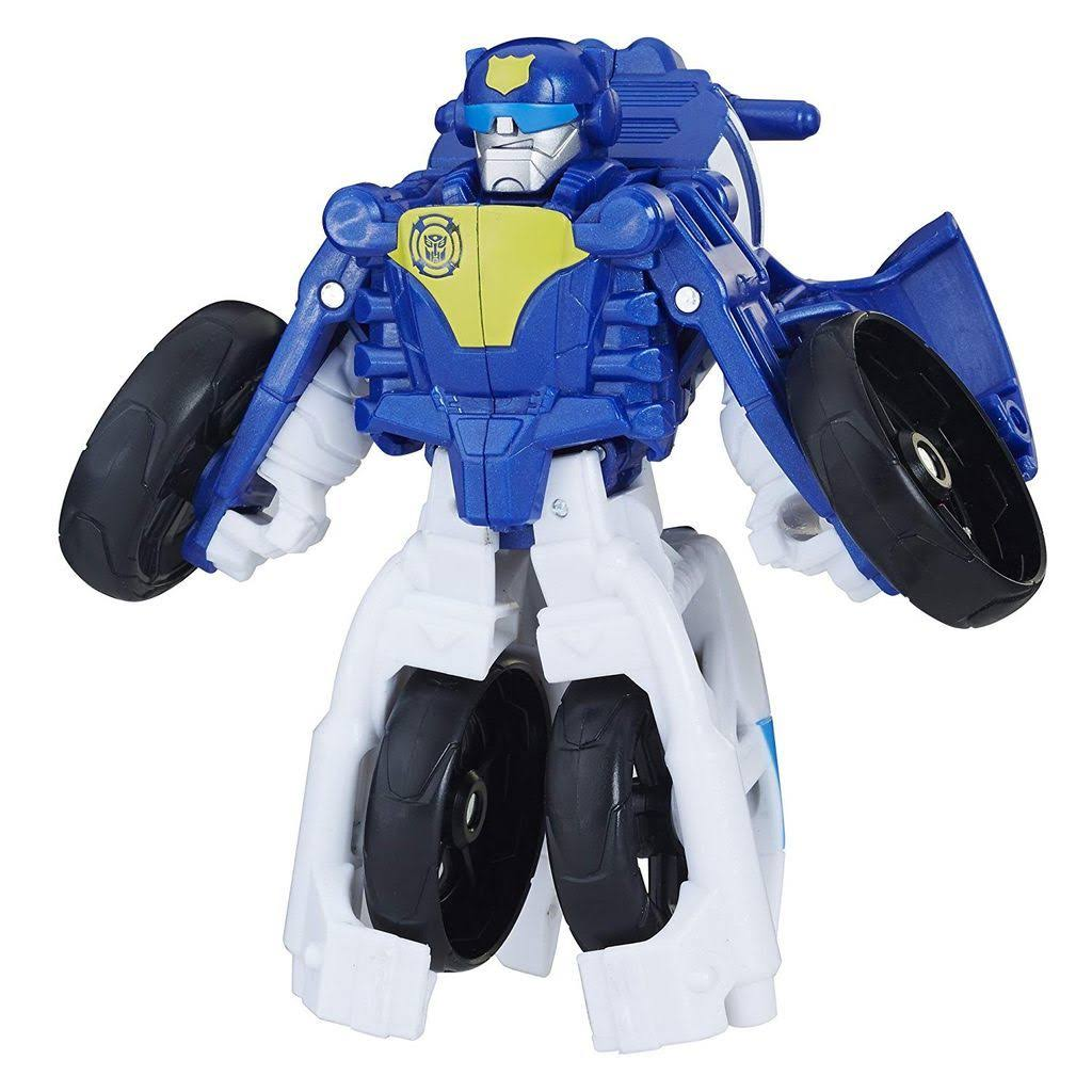 Playskool Heroes Transformers Rescue Bots Chase the Police-Bot Toy - 4.5""