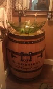 Ebay Bathroom Vanity With Sink by To Da Loos Wine Barrel Sink Vanities Turning Wine Into Water