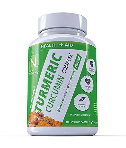 Nutrakey Turmeric Curcumin Complex Supplement - 180ct
