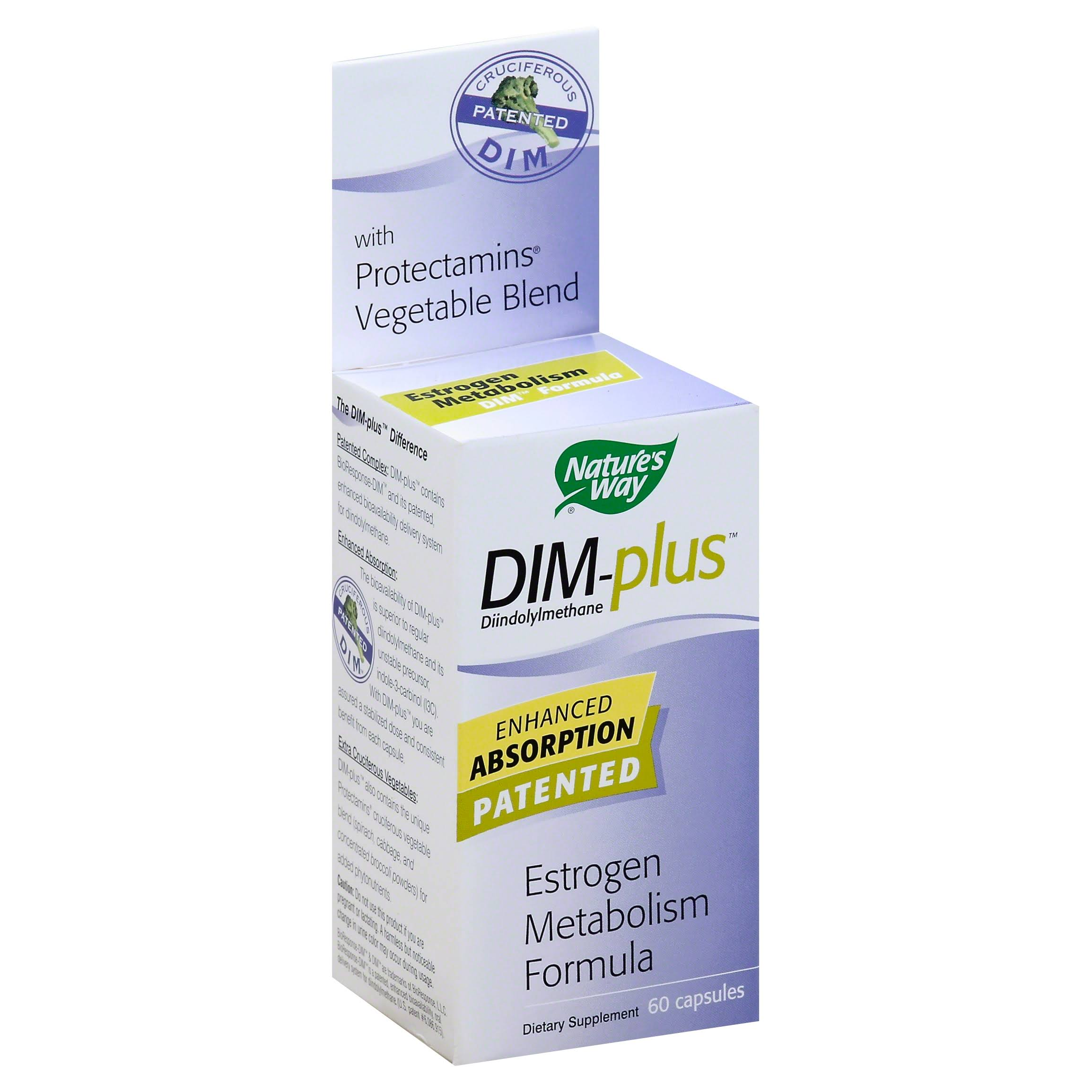 Nature's Way Dim-Plus Estrogen Metabolism Formula - 60 Capsules