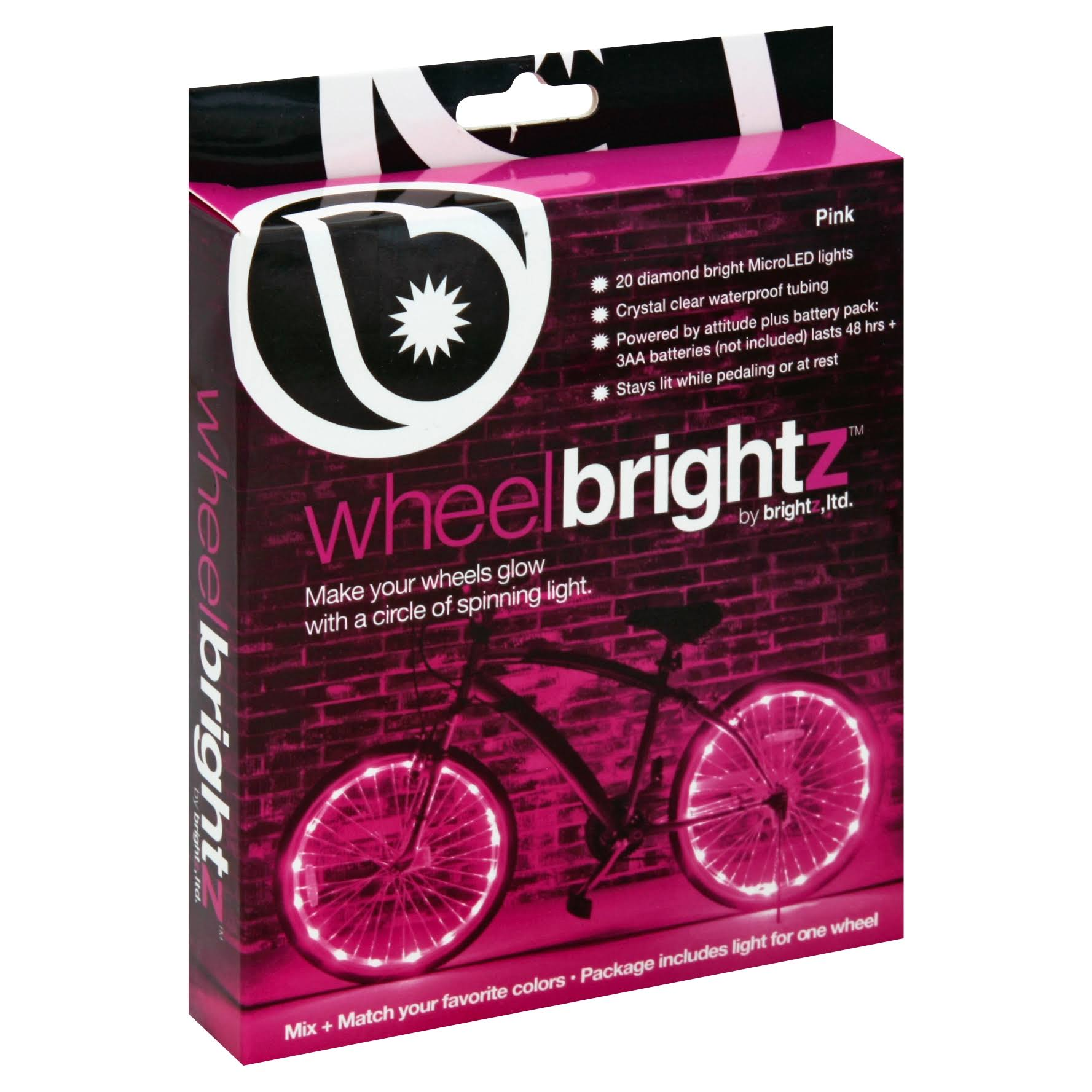 Wheel Brightz Lightweight LED Bicycle Safety Light - Pink