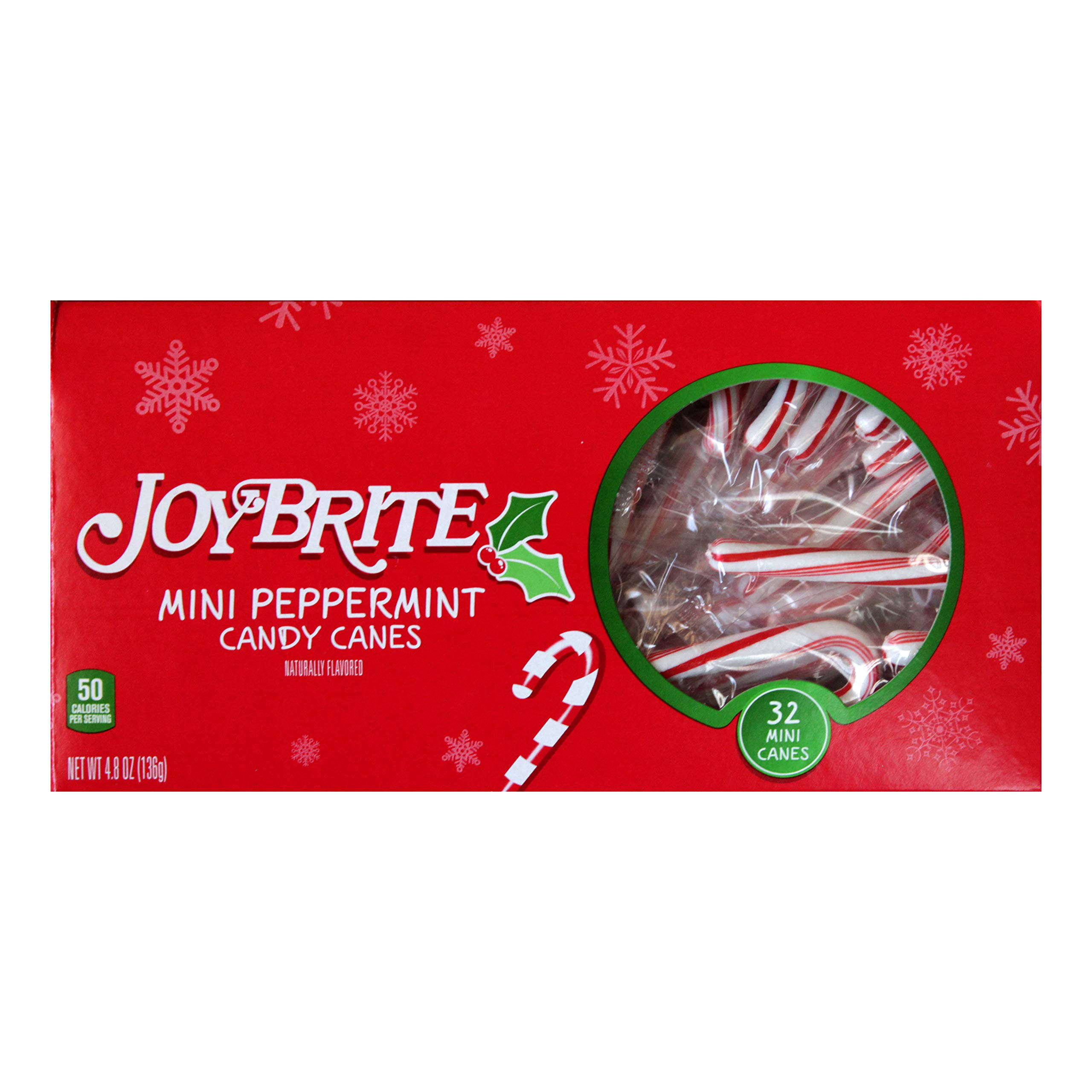 Joybrite 32pc Mini Peppermint Candy Canes Christmas