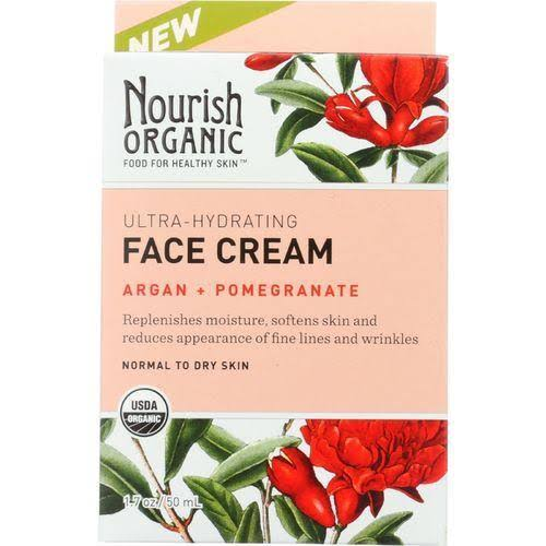 Nourish Organic Face Cream - Argan & Pomegranate, 50ml