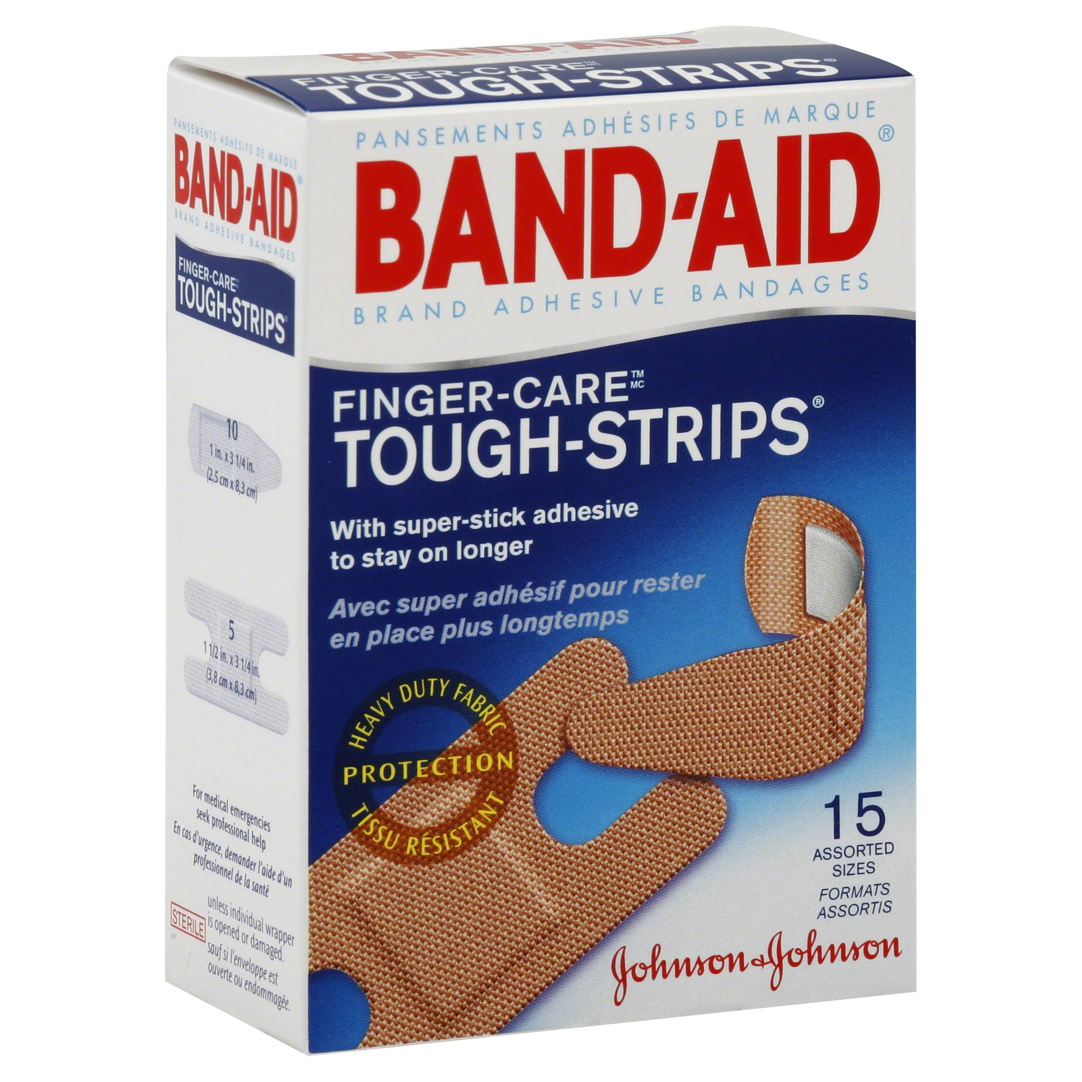 Band-Aid Finger Care Tough Strips - 15pcs