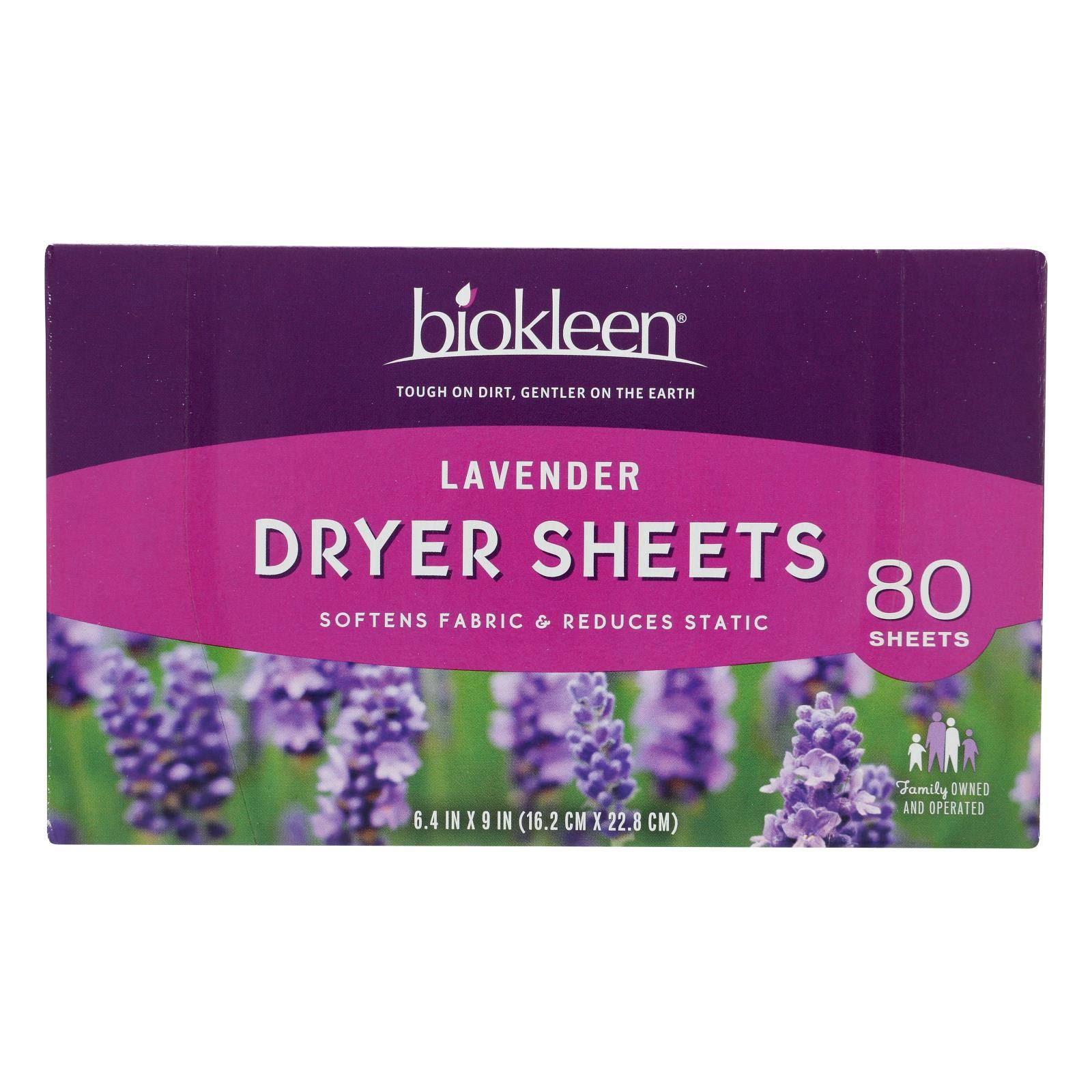 Biokleen Laundry Dryer Sheets Lavender 80 Sheets