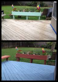 Rust Oleum Decorative Concrete Coating Sunset by Before And After Rustoleum 10x Textured Deck In Porch U0027s Cool Blue