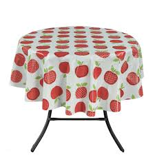 Fitted Outdoor Tablecloth With Umbrella Hole by Tablecloths The Home Depot