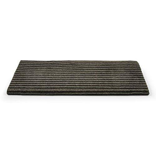 Camco 42956 Premium Wrap Around Double Ribbed RV Step Rug, 100 Percent Polyester (18 inch x 23 inch), Gray