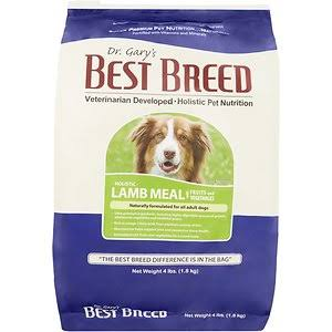 Dr. Gary's Best Breed Holistic Lamb Meal with Fruits & Vegetables Dry Dog Food 4-lb