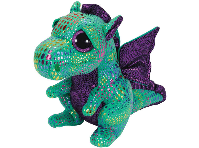 Ty Cinder Green Dragon Beanie Boo