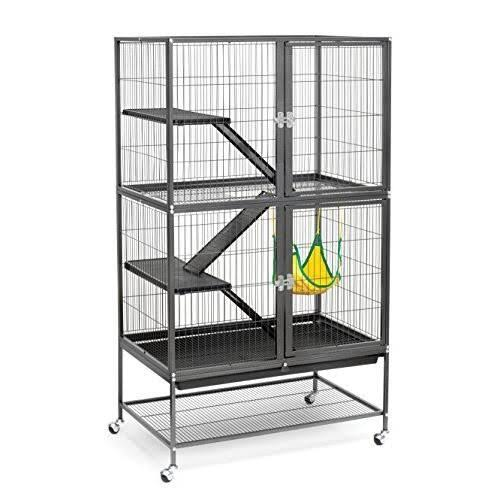 Prevue Pet Products Feisty Ferret Home Cage - Casters Black