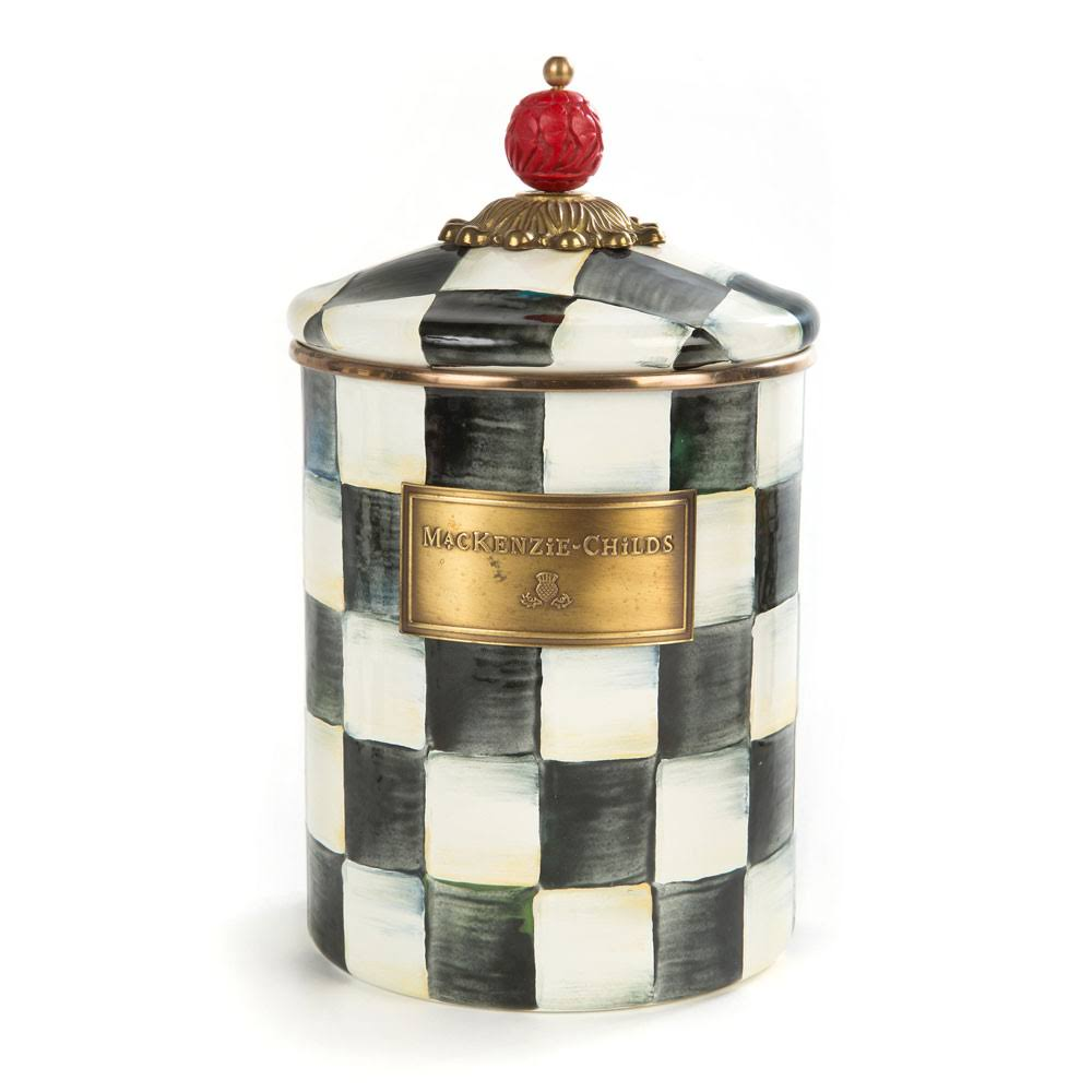 MacKenzie-Childs - Courtly Check Enamel Canister - Medium