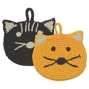 Now Designs Calvin Cat Tawashi Scrubbers | Set of 2 - 2012006