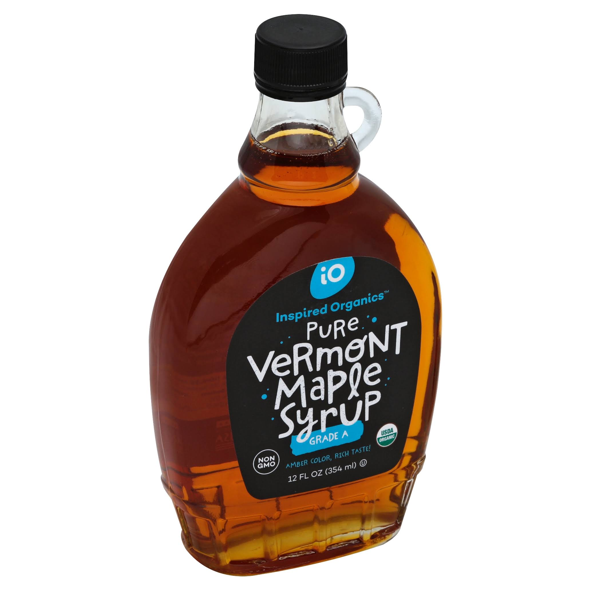 Inspired Organics Maple Syrup, Pure, Vermont - 12 oz