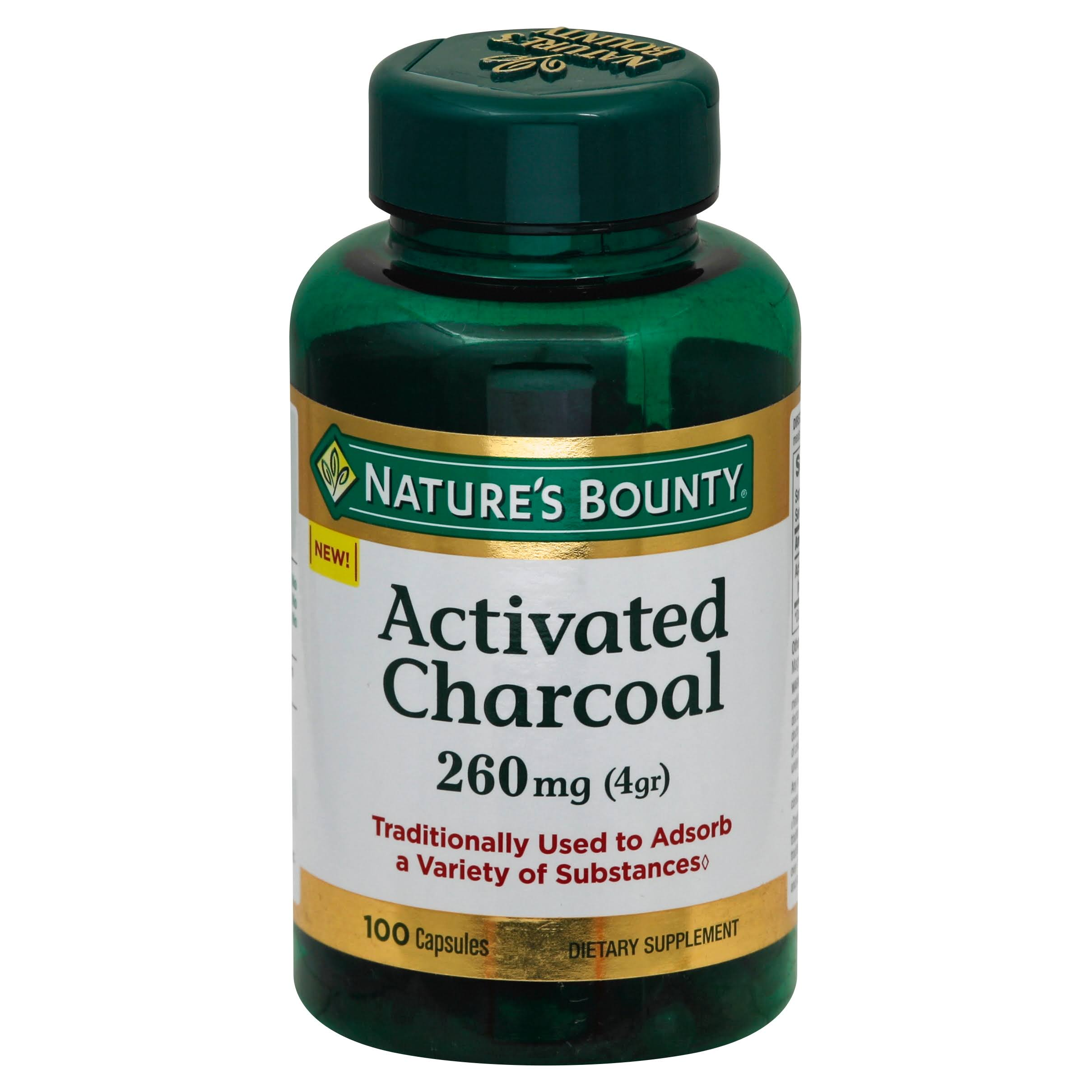 Nature's Bounty Activated Charcoal Supplement - 260mg, 100ct