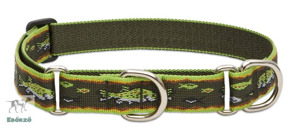 Lupine Brook Trout Adjustable Large Dog Combo Collar - 1""