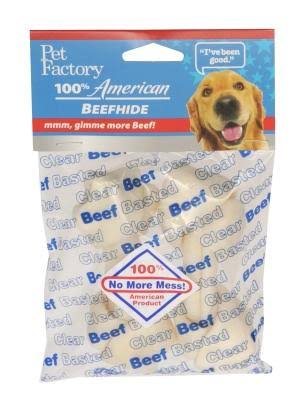 Pet Factory USA Clear Beef Bones 4-5in 2ct