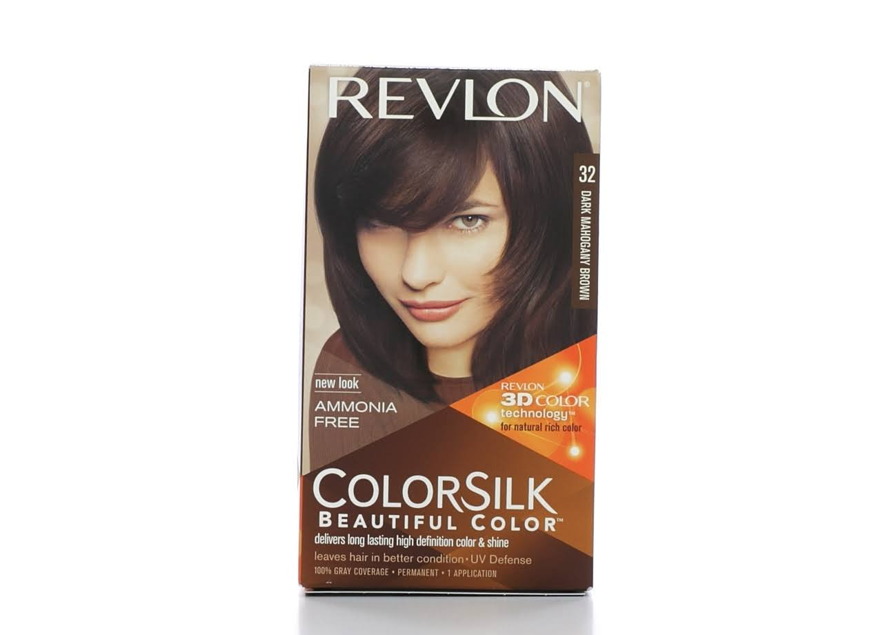 Revlon Colorsilk Beautiful Color Permanent Hair Color - 32 Dark Mahogany Brown
