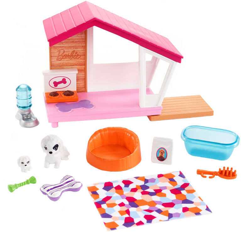 Barbie Dog House Playset, Doll Accessories