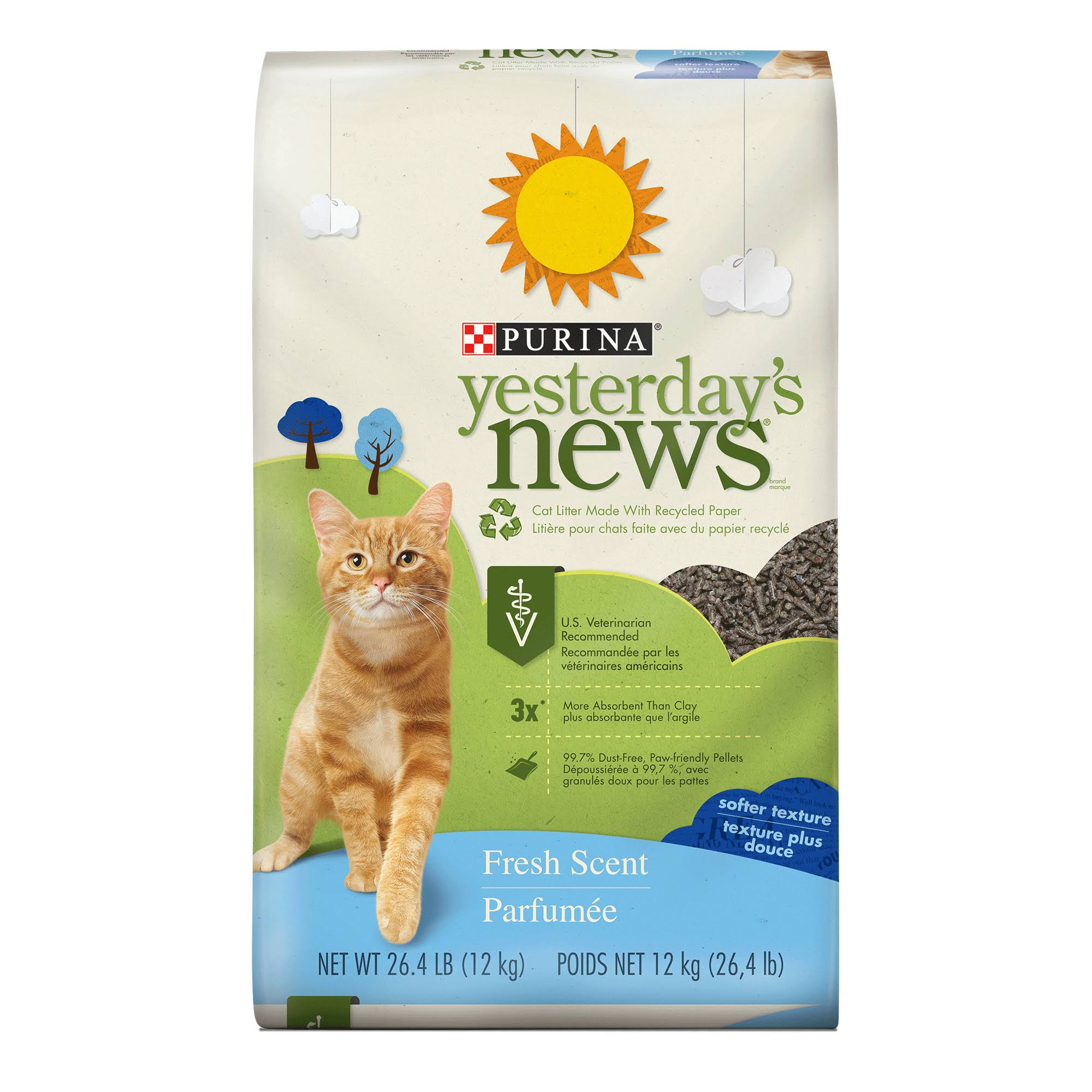 Purina Yesterday's News Cat Litter - 26.4 lb, Fresh Scent