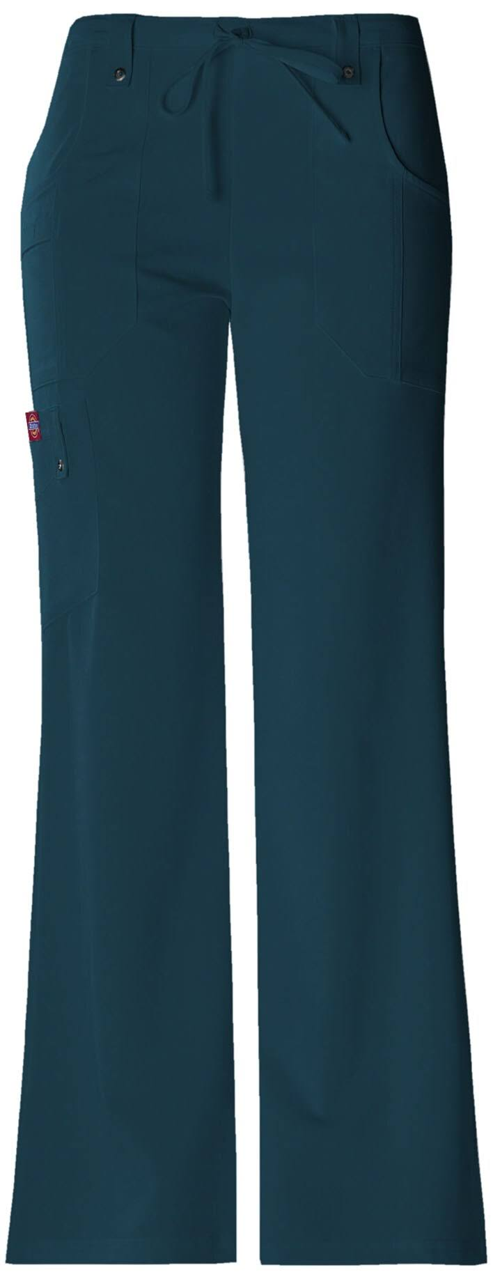 Dickies Women's Xtreme Stretch Fit Drawstring Flare Leg Pant - Caribbean, Small
