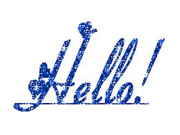 csillogó hello felirat