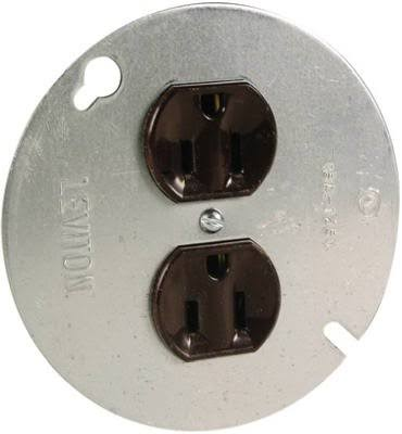 Pass and Seymour Receptacle - Brown, 15 Amp, 125V