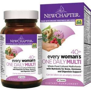 New Chapter 40+ Every Woman's One Daily Multi Supplement - 48 tablets