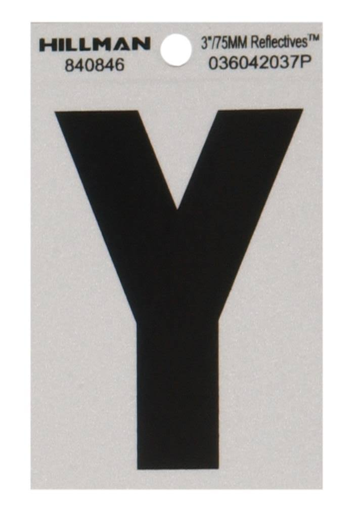 The Hillman Group 3 in. Vinyl Letter Y