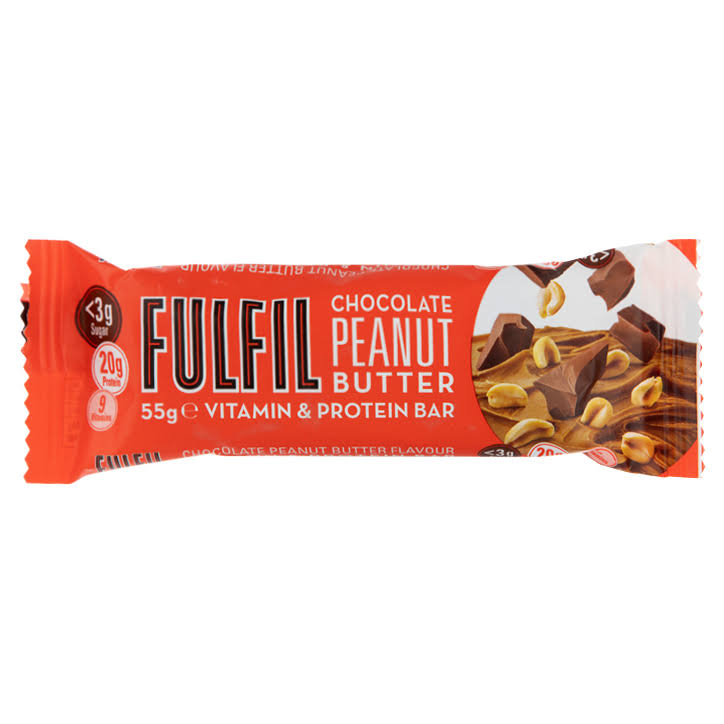 Fulfil Chocolate Peanut Butter Vitamin and Protein Bar - 55g