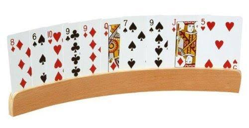 CHH Curved Wood Playing Card Holder - Set of 2