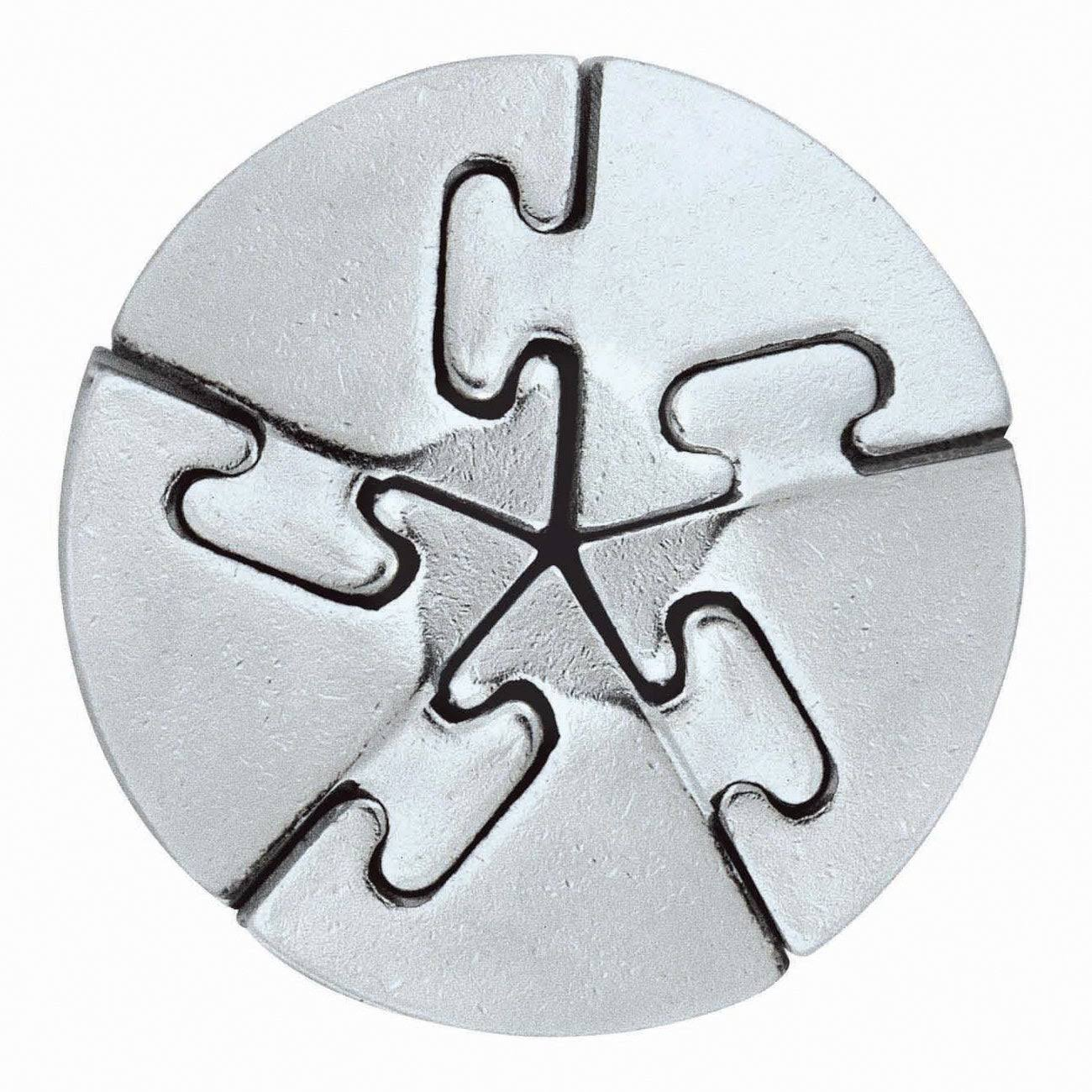 Hanayama Cast Metal Brainteaser Puzzles - Spiral Puzzle Level 5