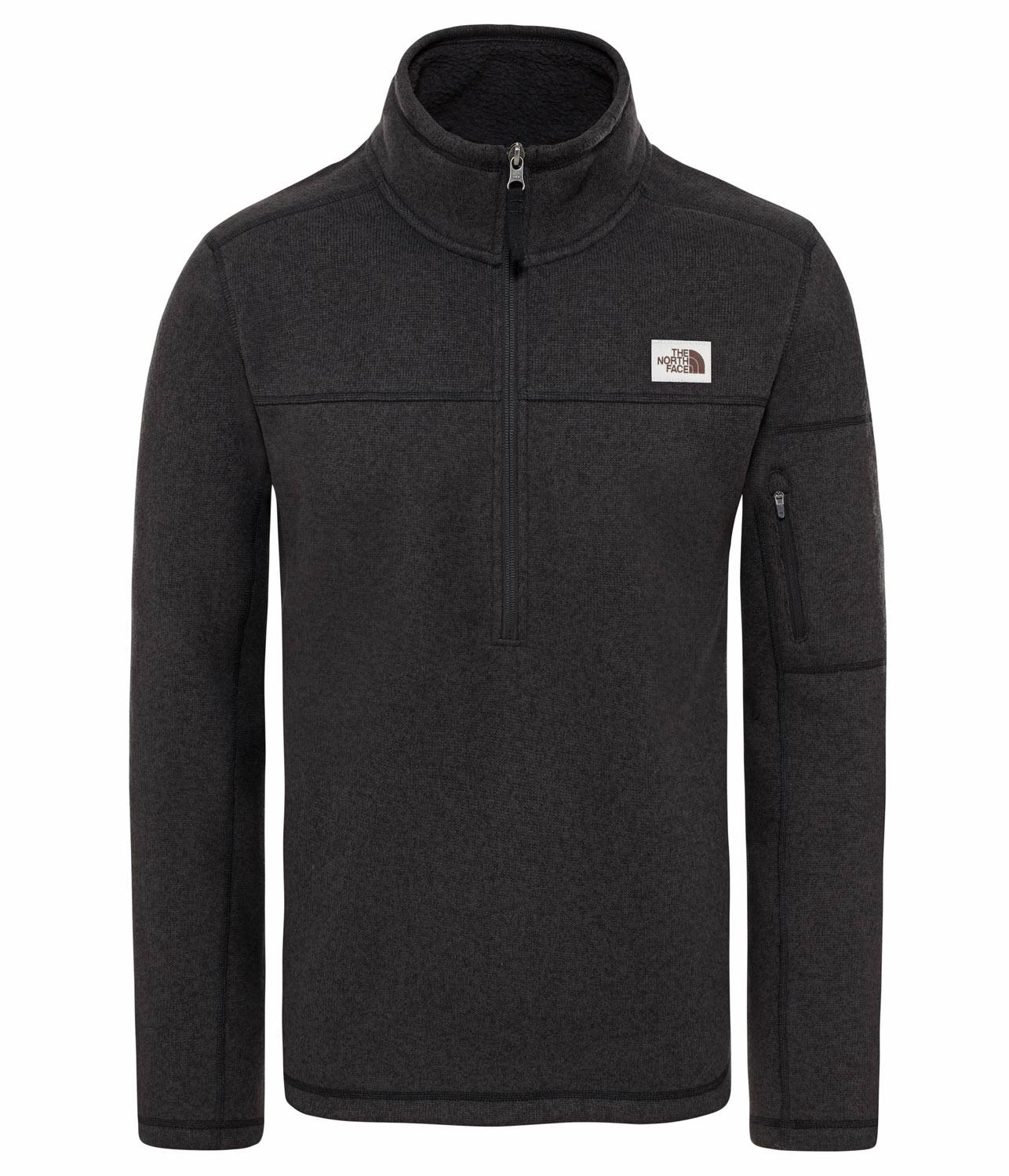 The North Face Gordon Lyons 1/4 Zip - Men's TNF Black Heather / L