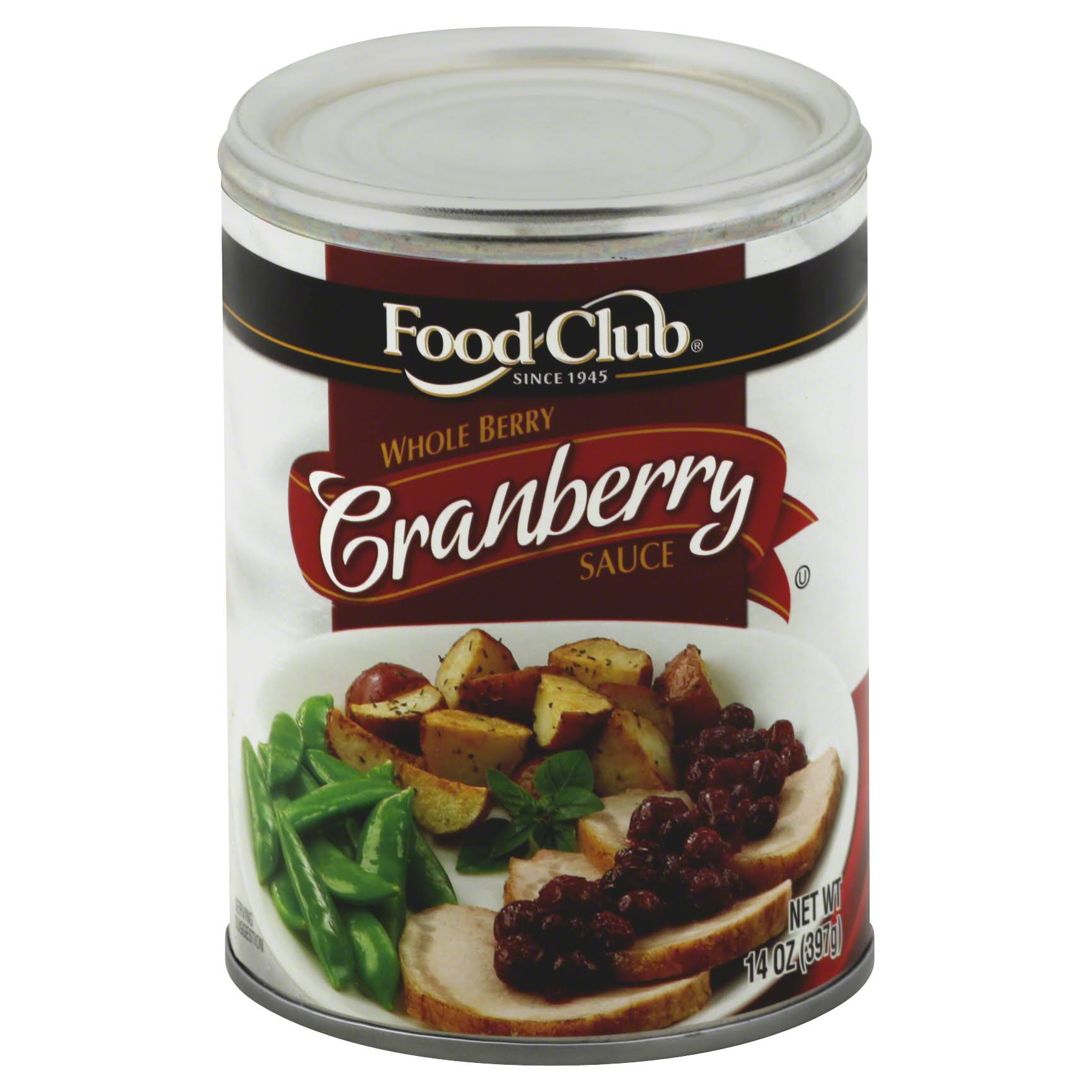Food Club Cranberry Sauce, Whole Berry - 14 oz