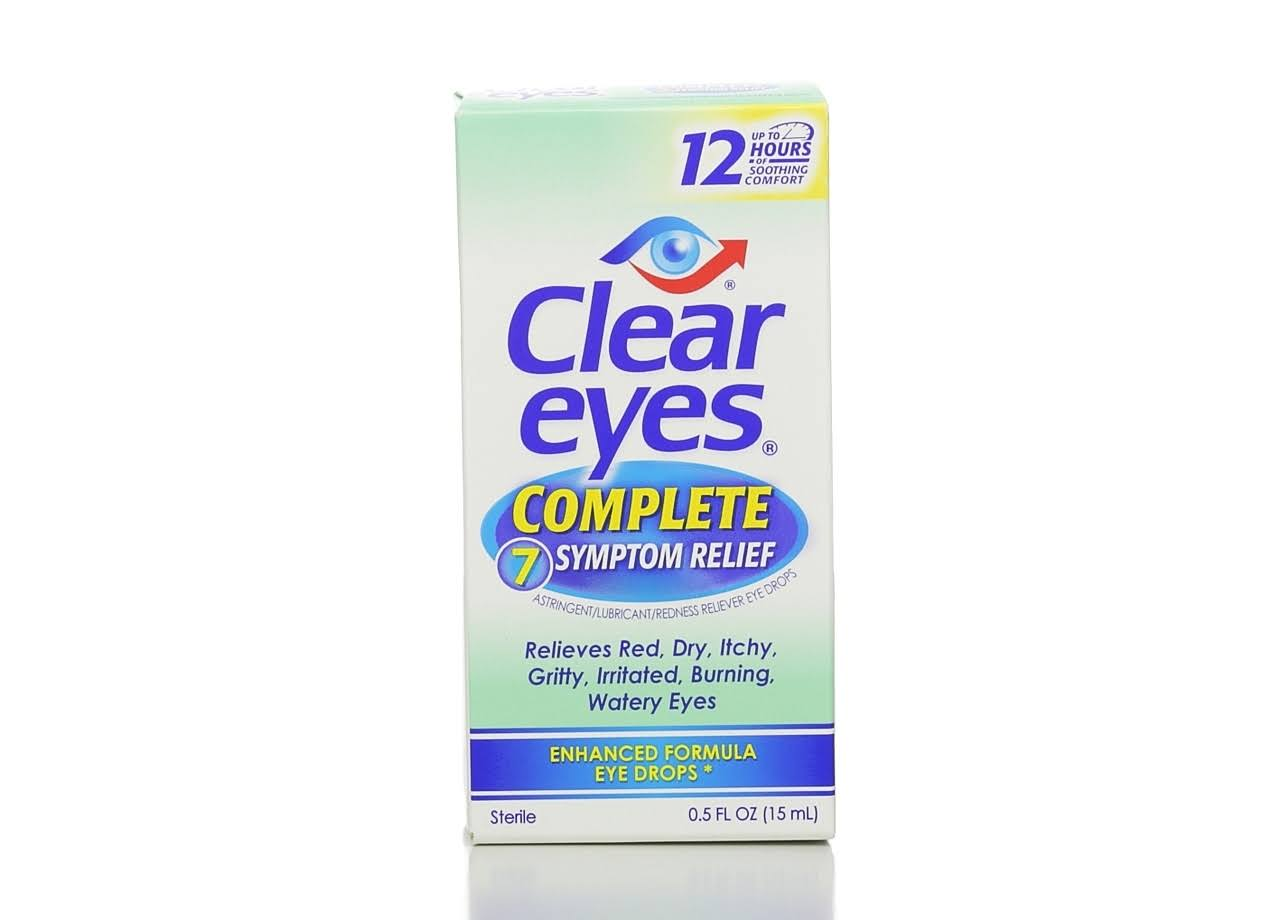 Clear Eyes Complete 7 Symptom Relief Enhanced Formula Eye Drops - 0.5 floz