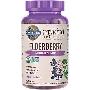 Garden of Life Mykind Organics Elderberry Immune Gummy Herbal Supplement - 120ct