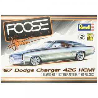 Revell Plastic Model Kit - 67 Dodge Charger 426 HEMI, 1/25 Scale