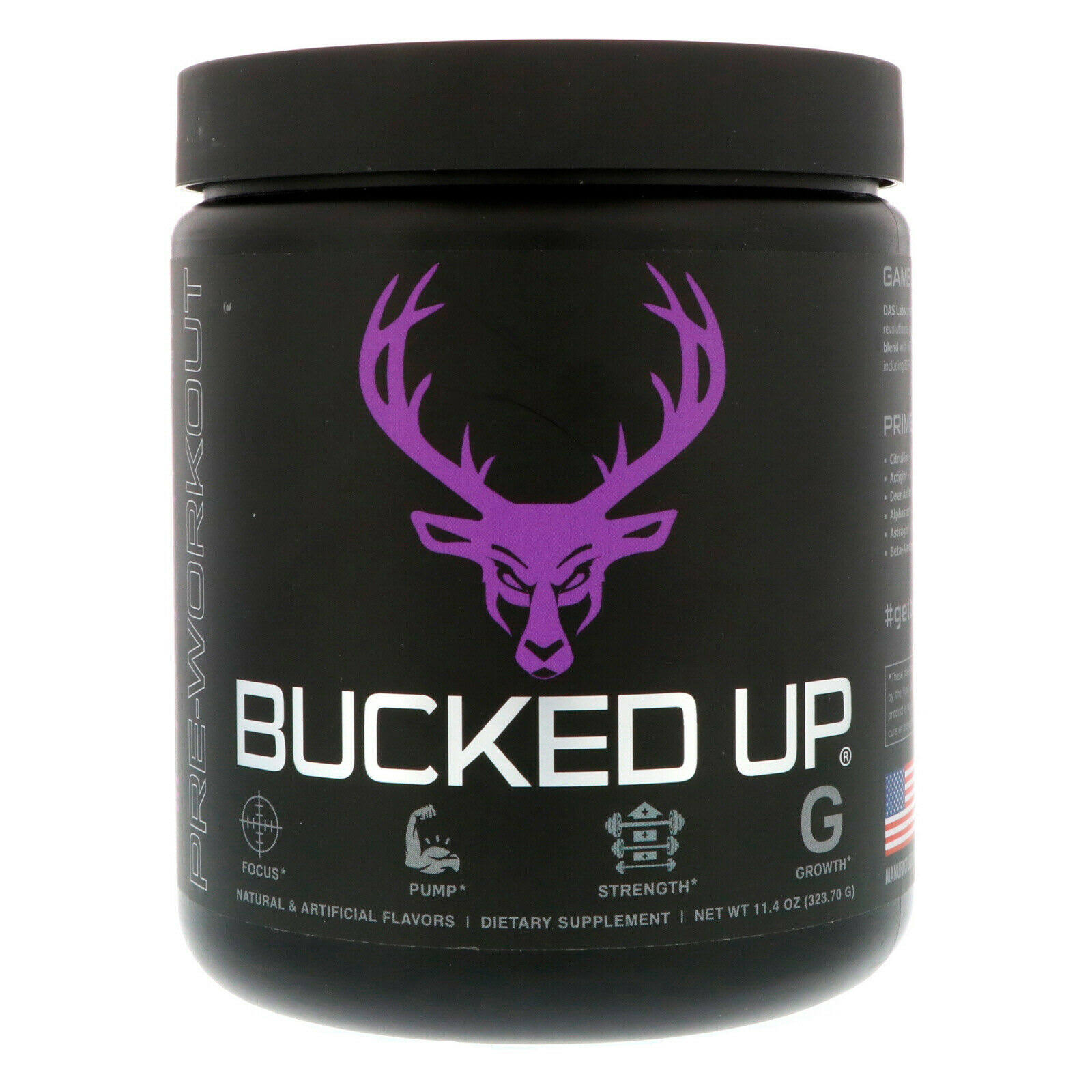 Bucked Up Pre-Workout (Grape - 30 Servings)