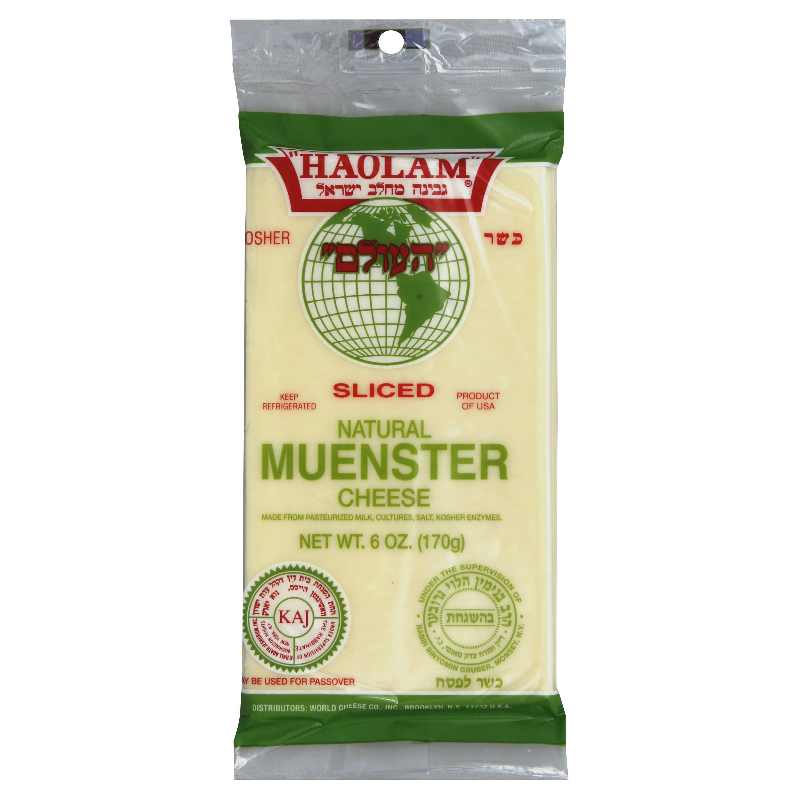 Haolam Sliced Cheese, Muenster - 6 oz