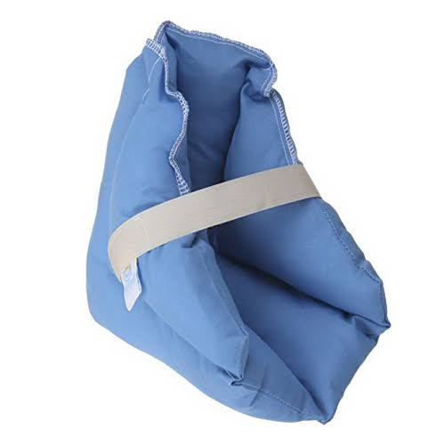 Hermell Products Poly Filled Heel Pillow - with Blue Polycotton Fabric
