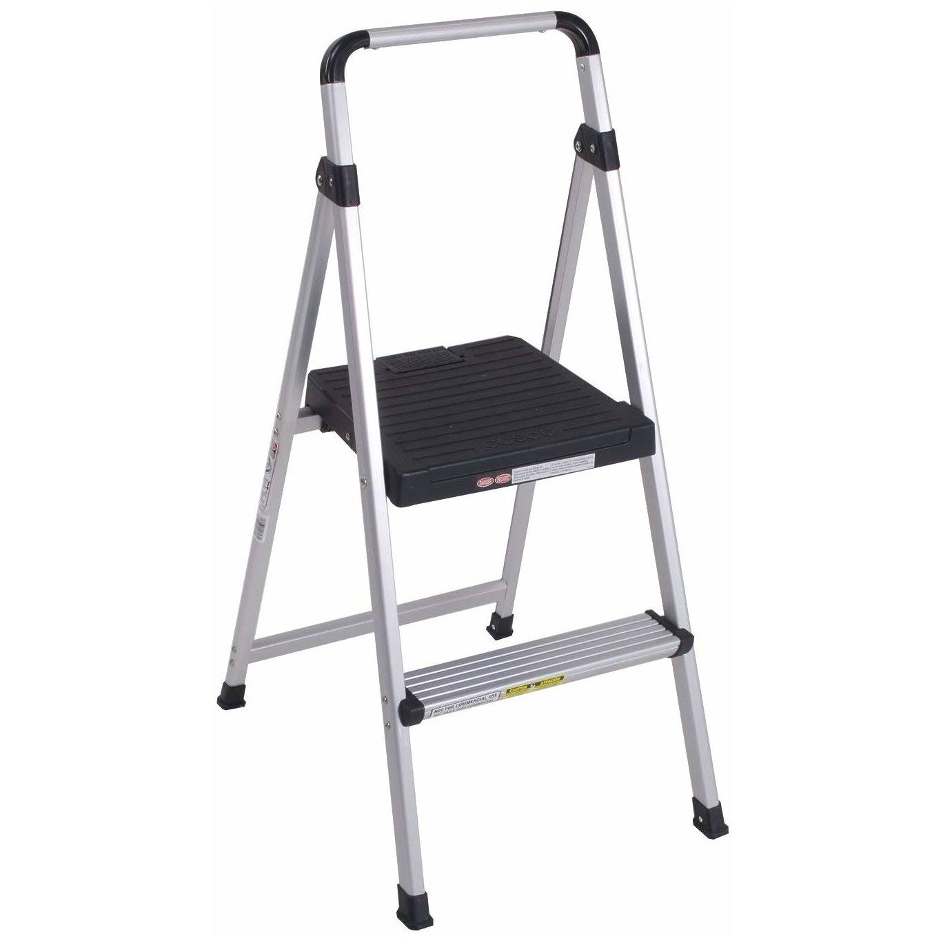 Cosco 11-628ABK4 Lite Solutions Aluminum Frame Step Ladder - Gray, 2 Step