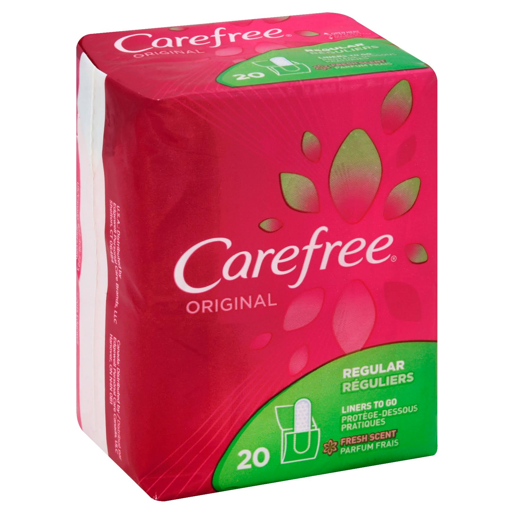 Carefree Original Panty Liners - Fresh Scent, 20 Count