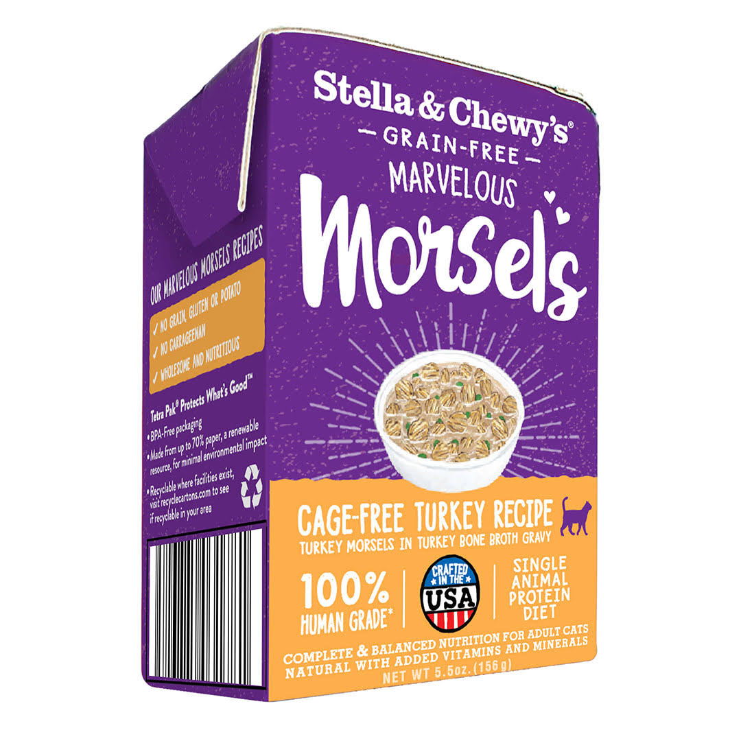Stella & Chewy's Marvelous Morsels Turkey Wet Cat Food 5.5-oz