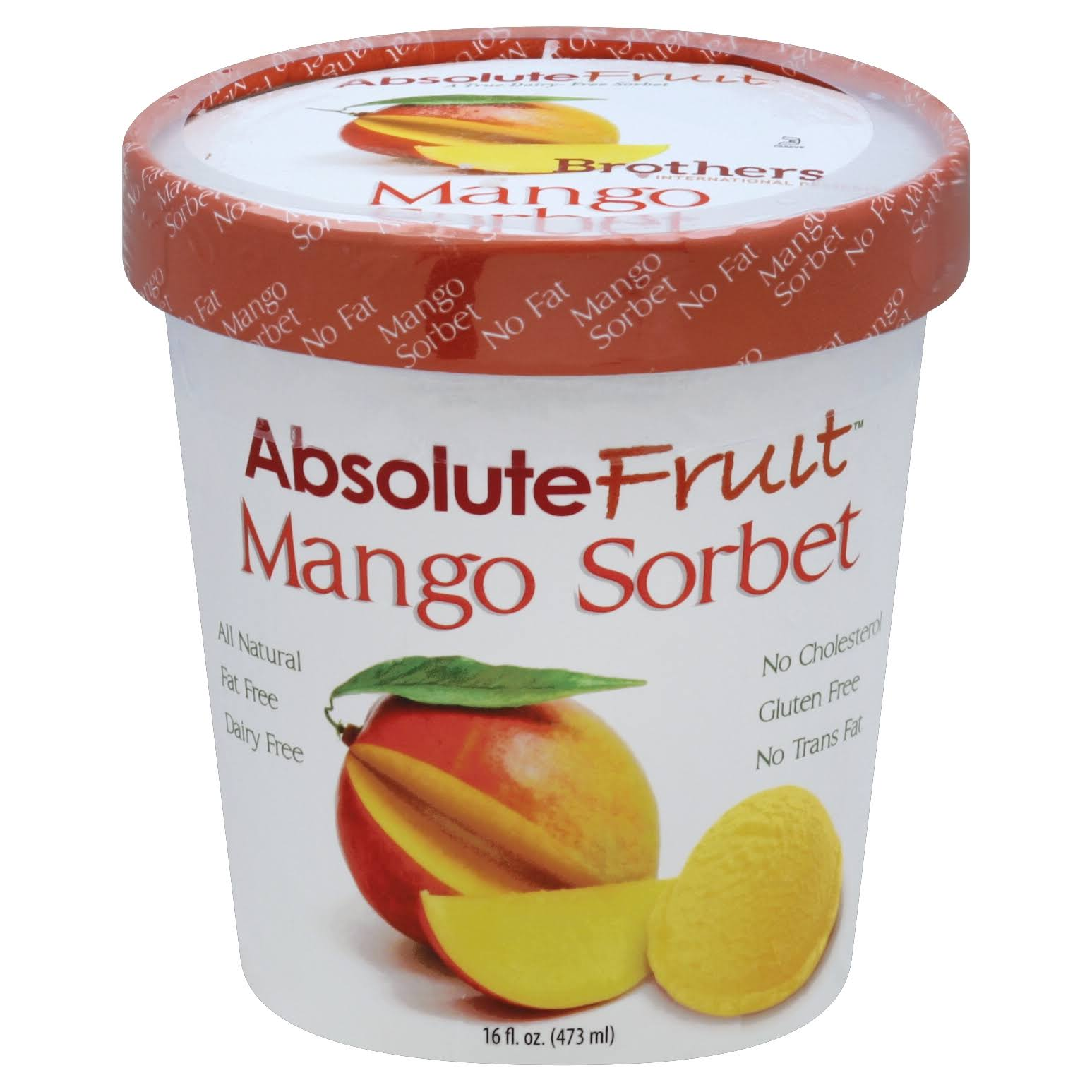 Absolute Fruit Sorbet, Mango - 16 fl oz