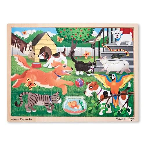 Melissa & Doug Pets At Play Wooden Jigsaw Puzzle - 24 Pieces