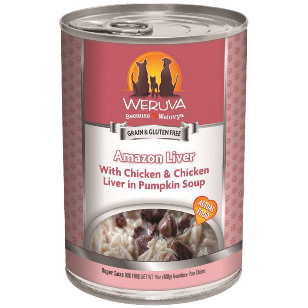 Weruva Grain Free Canned Dog Food - Amazon Liver, 14oz