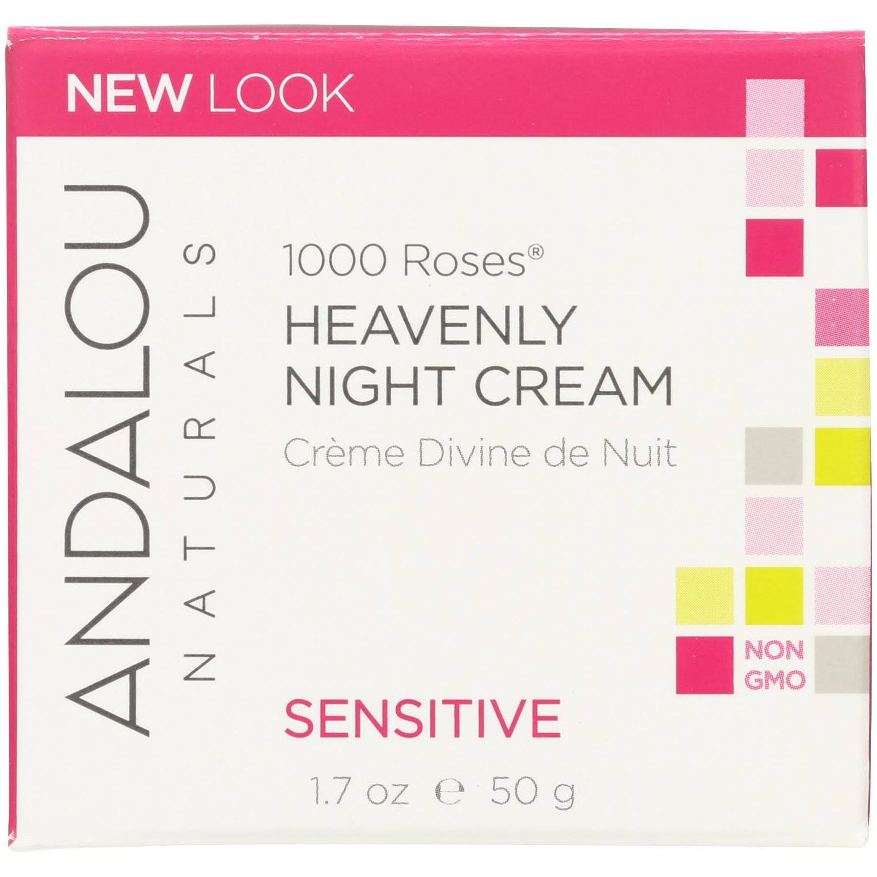 Andalou Naturals Heavenly Night Cream - 1.7oz, 1000 Roses